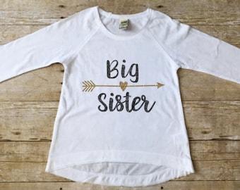Big Sister Shirt, Sister Announcement, Sibling Shirt, Big Sister, Sister to be, Big Sister Gift, Matching Shirts, Girls Clothing,