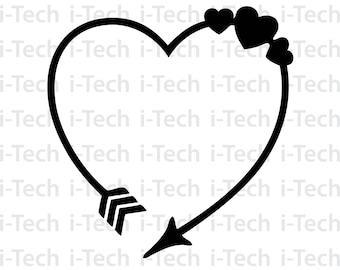 heart and arrow etsy Rockabilly Patches arrow heart svg arrow monogram svg arrow clipart valentine svg cricut silhouette cut files svg dxf instant download