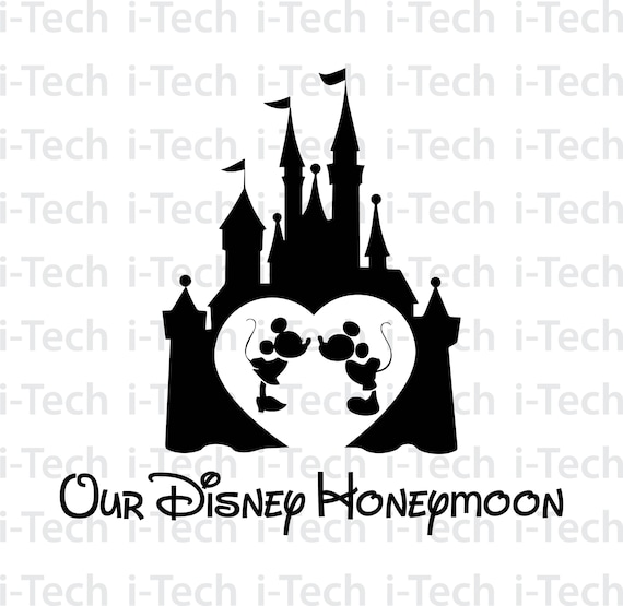 Our Disney Honeymoon Svg Disney Castle Svg Disney Valentine Etsy