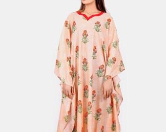 2X 3X 4X 5X 6X 7X 8X 9X Batwing Cotton Caftan Plus Size Kaftan Shirt Dress P3507