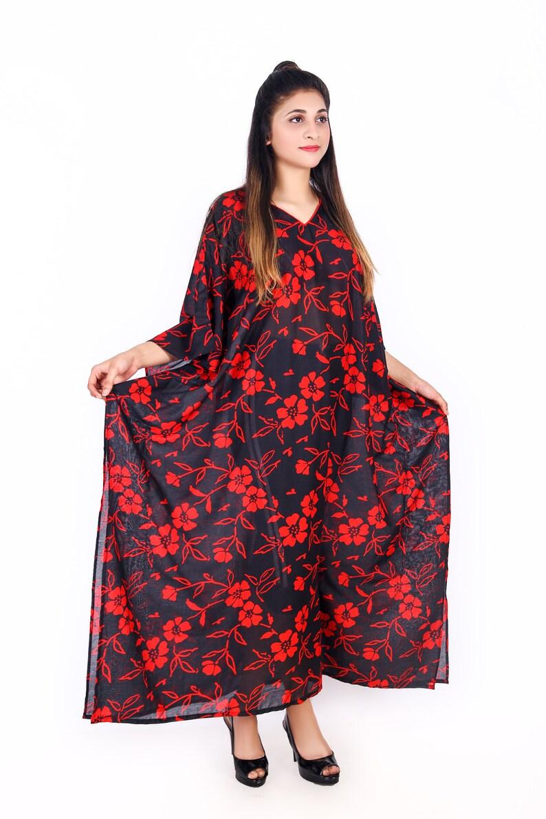 2X 3X 4X 5X 6X 7X 8X 9X Batwing Cotton Caftan Plus Size Kaftan Shirt Dress P3503