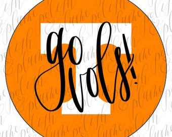 """University of Tennessee Go Vols 3"""" Game Day Buttons Pins"""
