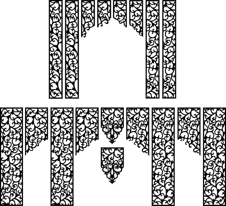 AI /_Art file DXF of Laser Cut CNC Vector DXF-CDR