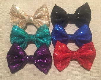 Sequin Bow, Glitter Bow, Shiny Bows, Fabric Bows