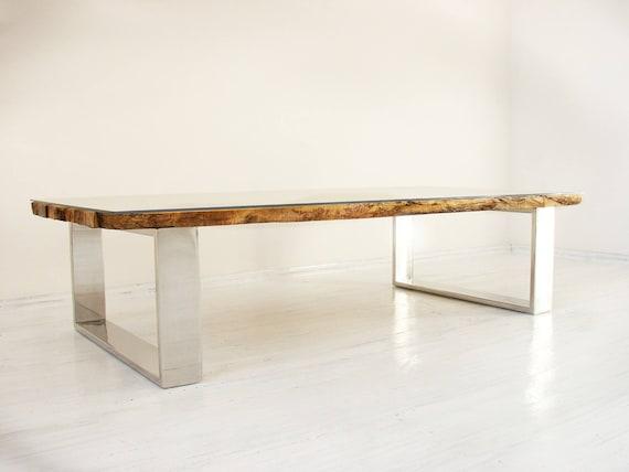Live rand salontafel virkerÅ 160x80x41cm met poten van etsy