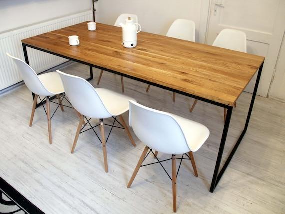 Bureau en acier et bois industriel loft style vintage basic etsy