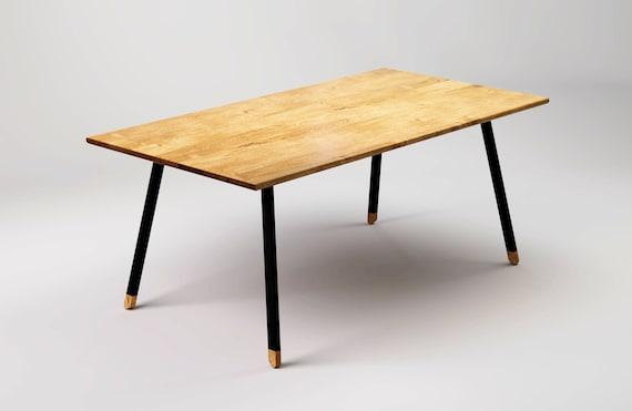 Moderner Esstisch FINT BLACK 180cm Natürliches Eichenholz und | Etsy