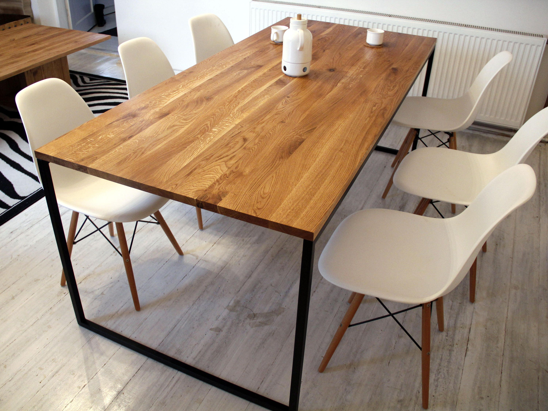 Steel Frame Dining Table Basic Nio Ii Modern Industrial Etsy