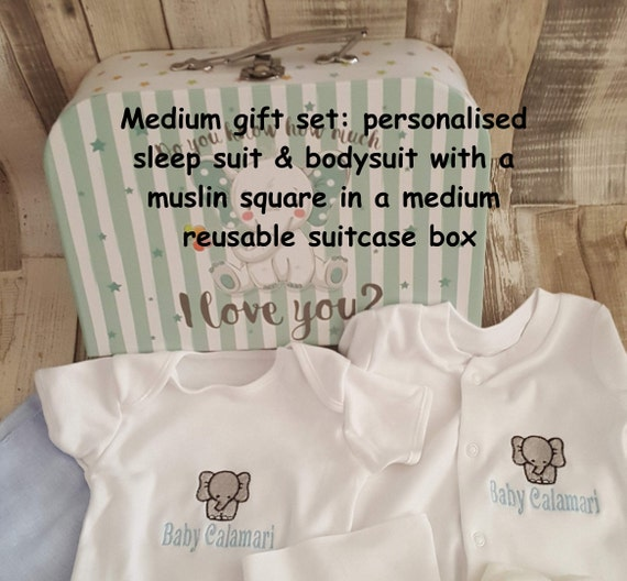 Personalised Newborn Baby Girl Boy I Heart My Sleepsuit Embroidered Gifts
