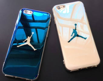 Michael Jordan Basketball Flyman 23 Air Jordan Bulls Chicago Dark Blue  White Clear Soft Case for iPhone Xs cef39b569