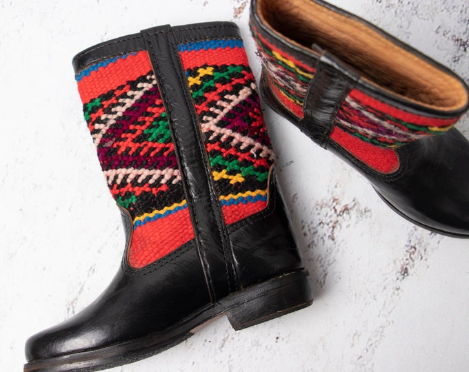 Featured listing image: Bohemian Boots, Embroidered Leather Boots