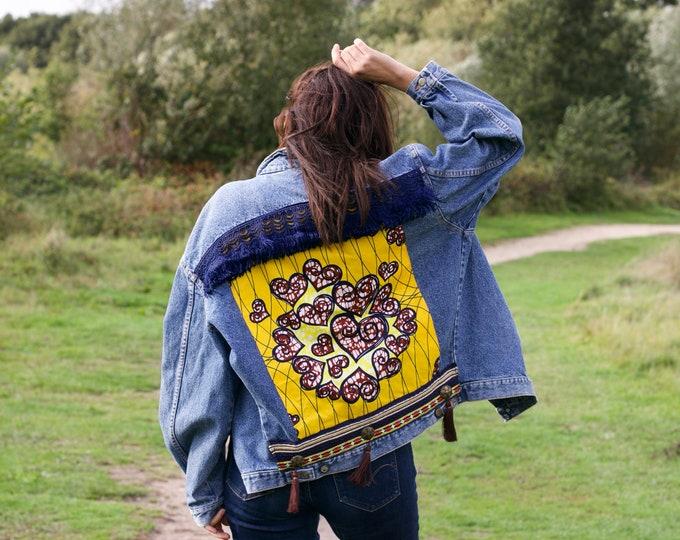Featured listing image: Embellished Denim Jacket: Aragonite
