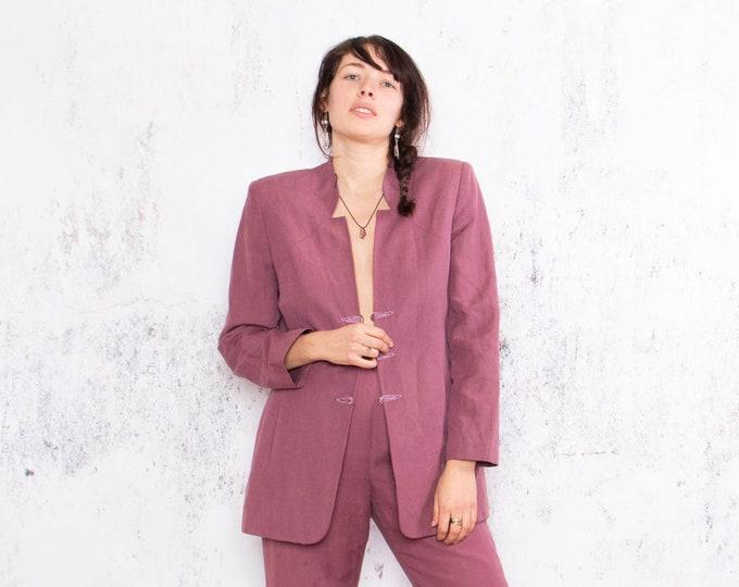 Featured listing image: Exclusive: Vintage Silk and Linen Suit, Purple Suit