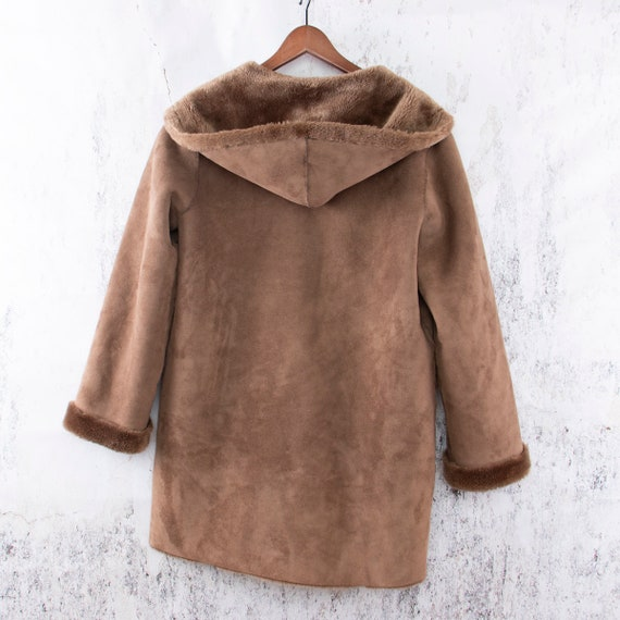 Faux Suede Coat, Vegan Lammy coat, Duffle coat - image 6