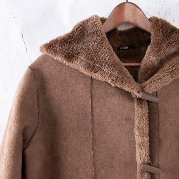 Faux Suede Coat, Vegan Lammy coat, Duffle coat - image 2