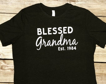 Blessed Grandma Shirt   Customized Grandma Shirt   Personalized Grandma Shirt   Grandma Shirt   Gift for Grandma   Personalized Gift