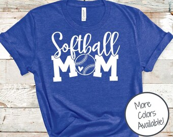 Softball Mom shirt | Game Day shirt | Sports Mom shirt | Softball Heart shirt | Gift for Softball Mom | Soft Sport Shirt | Mothers Day Gift
