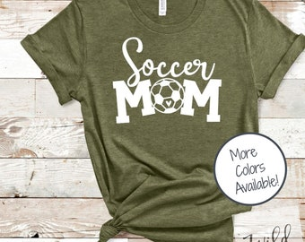 Soccer Mom shirt | Game Day shirt | Sports Mom shirt | Soccer Heart shirt | Gift for Soccer Mom | Soft Unisex Sports Shirt | Soccer is Life