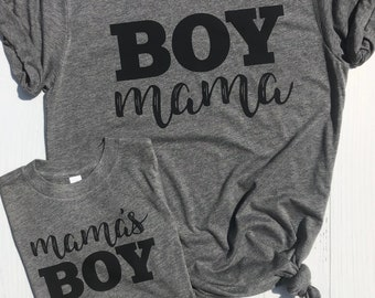 Mom and Son Matching Shirts | Mama's Boy and Boy Mama Shirt | Mother's Day gift for Boy Mom