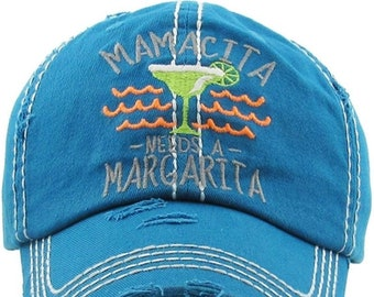 Mamacita Needs a Margarita | More Colors Available | Taco Tuesday Hat | Workout Hat | Beach Hat | Vacation Hat | Cruise Hat