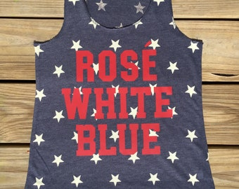 July 4th Rose Tank Top   4th of July shirt   4th of July tank   Patriotic tank   Fun 4th of July shirt   Summer American Funny