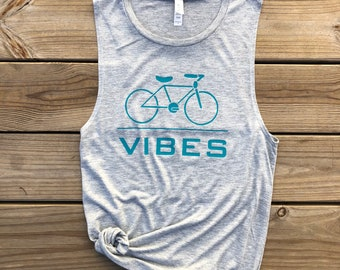 Bike Tank Top | Bicycle Tank | Cycle Enthusiast | Gift for biker | Cycling tank | Workout Tank | Muscle Tank. Gift for her. Gift for cyclist
