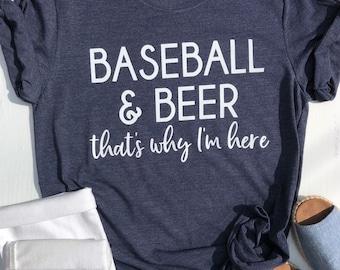 Baseball and Beer T Shirt | Beer Lover's Shirt | Baseball Game Shirt | Beer Lover Gift | Funny Beer Shirt | Sports Lover Shirt |
