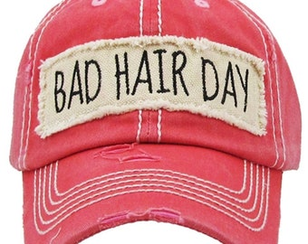 Bad Hair Day | More Colors Available | Ladies style baseball hat | Workout Hat | Beach Hat |