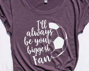 Soccer Mom Shirt, Ladies Relaxed Fit, Biggest Fan shirt,