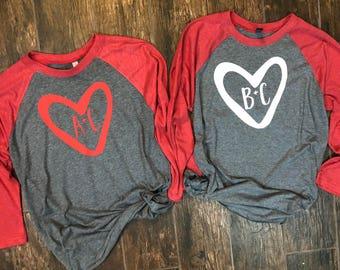 Matching Couple Gift, Unisex Baseball tees