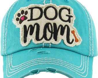Dog Mom Hat | More Colors Available | Ladies style baseball hat | Workout Hat | Beach Hat | Mom Hat | Gift for Mom