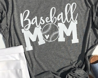 Baseball Mom shirt | Game Day shirt | Sports Mom shirt | Baseball Heart shirt | Gifts for Baseball Mom | Wild Liberty | Soft Unisex Shirt