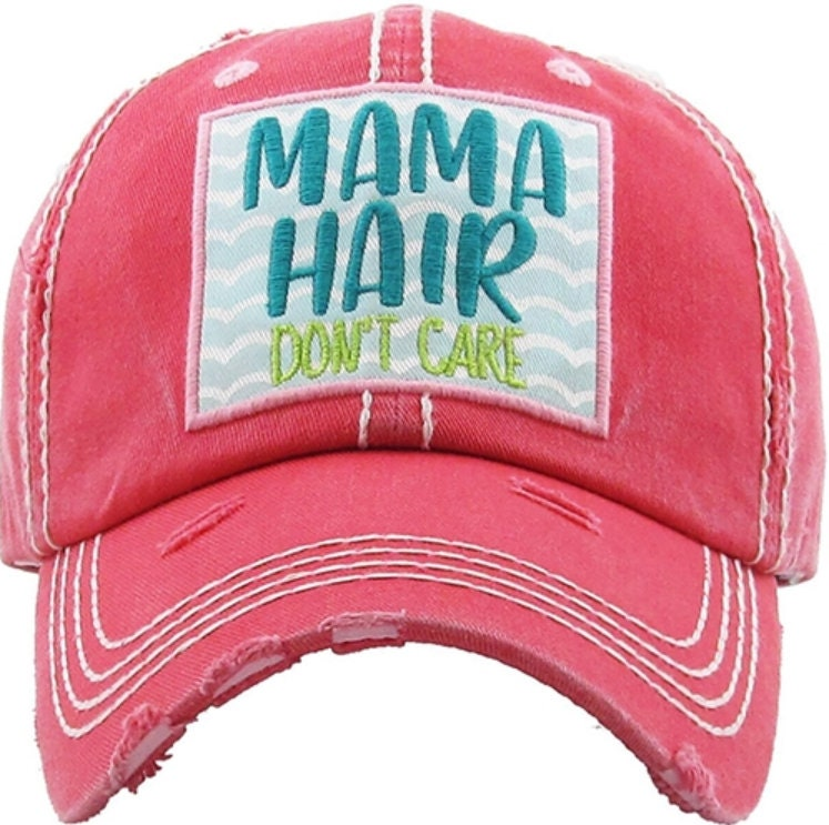 cf40fc3f914da4 Mama Hair Don't Care Hat | More Colors Available | Ladies style baseball hat  | Workout Hat | Beach Hat | Mom Hat | Gift for Mom