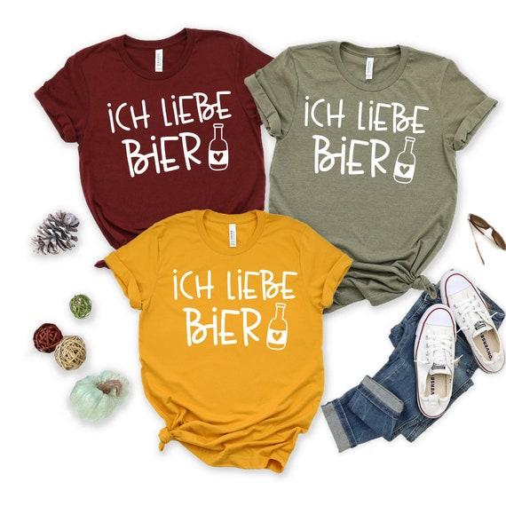 Colour Fashion Oktoberfest Ich Liebe Bier funny print Men/'s T-shirt
