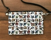 Dog cross body bag