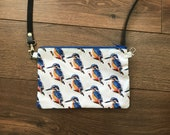 Kingfisher cross-body bag