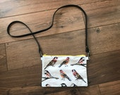 Garden birds cross body bag