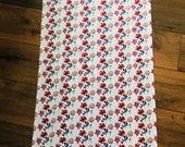 Flower print silk scarf
