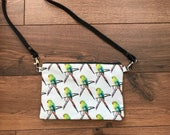 Parakeet cross body bag