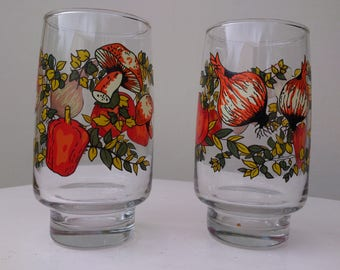 Retro drinking glasses late 70's
