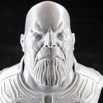 "3D Printed Thanos Bust - 9"" Tall - Silver"