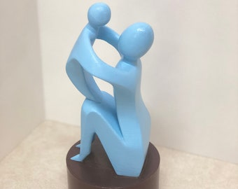 3D Printed Mother and Child Figurine