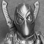 """3D Printed Deadpool Bust - 7.5"""" Tall"""