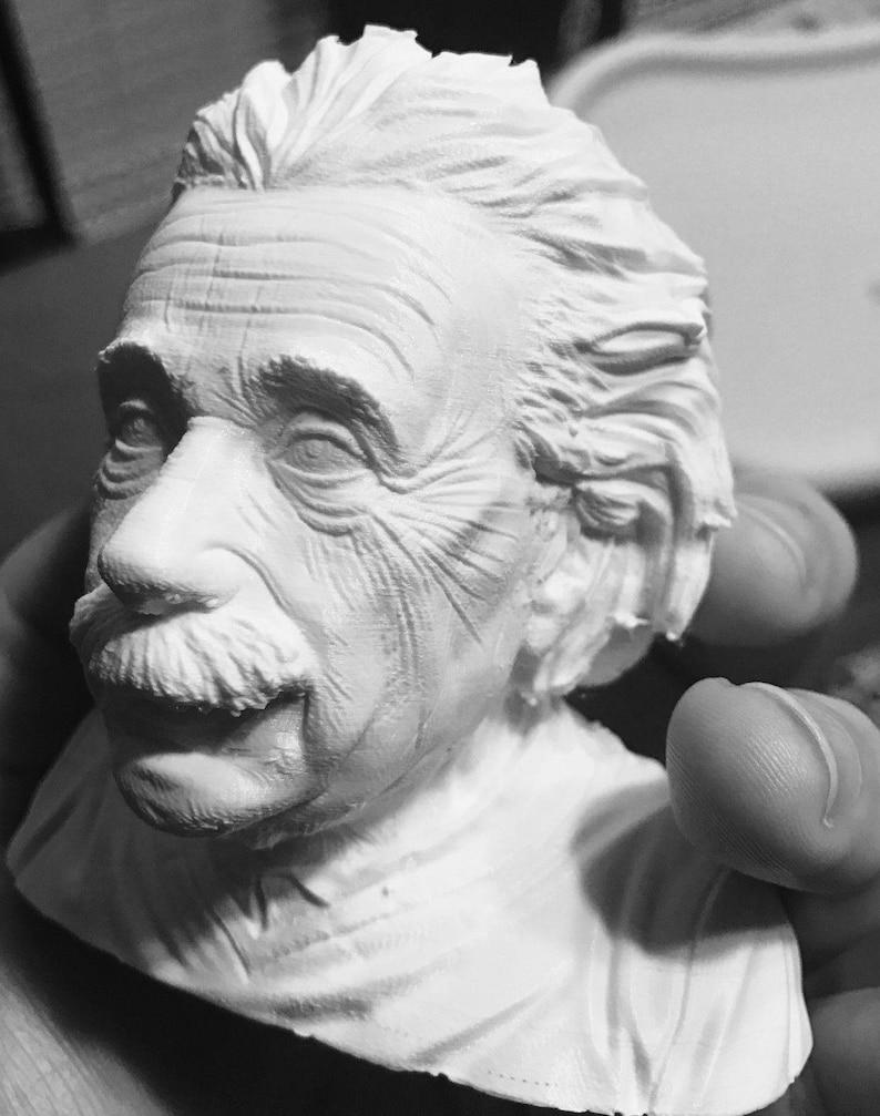 3D Printed Albert Einstein Bust Regular