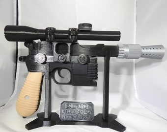 3D Printed Han Solo DL-44 Blaster with Stand