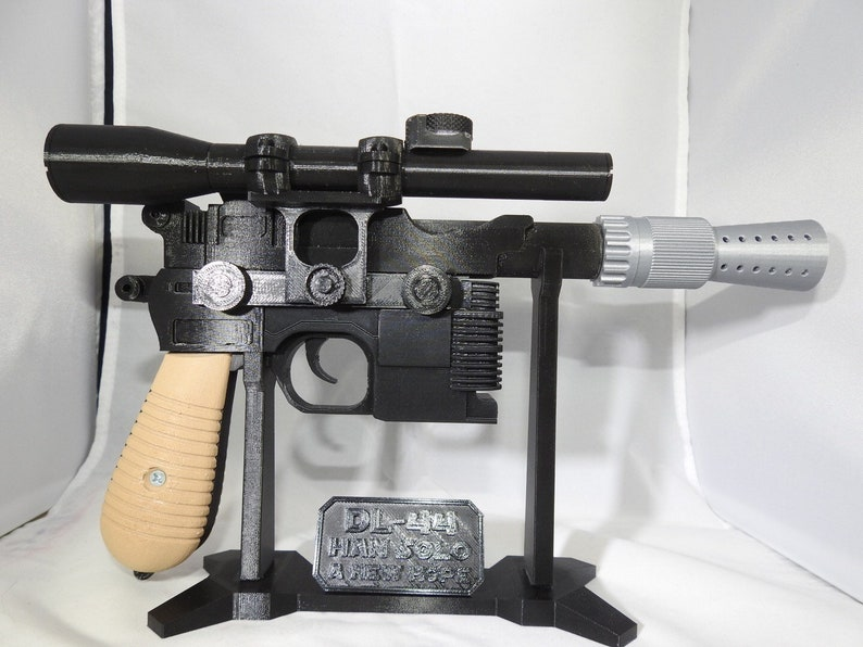 3D Printed Han Solo DL-44 Blaster with Stand image 0