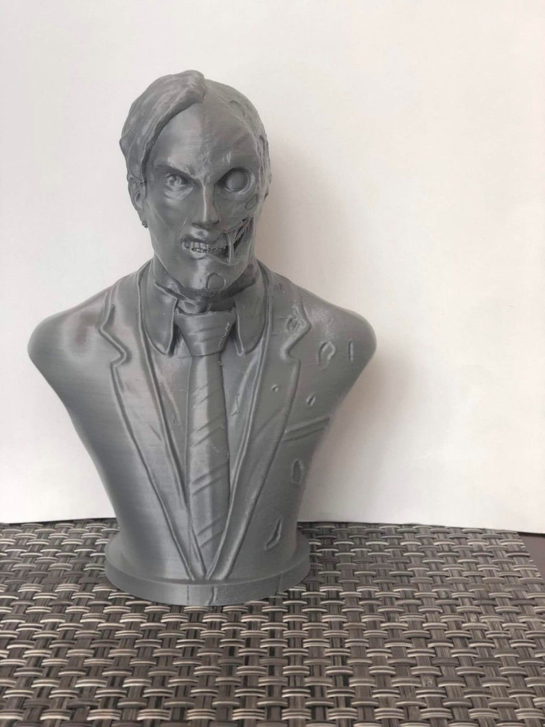 3D Printed Two-Face Bust  Batman  7.5 Tall image 0
