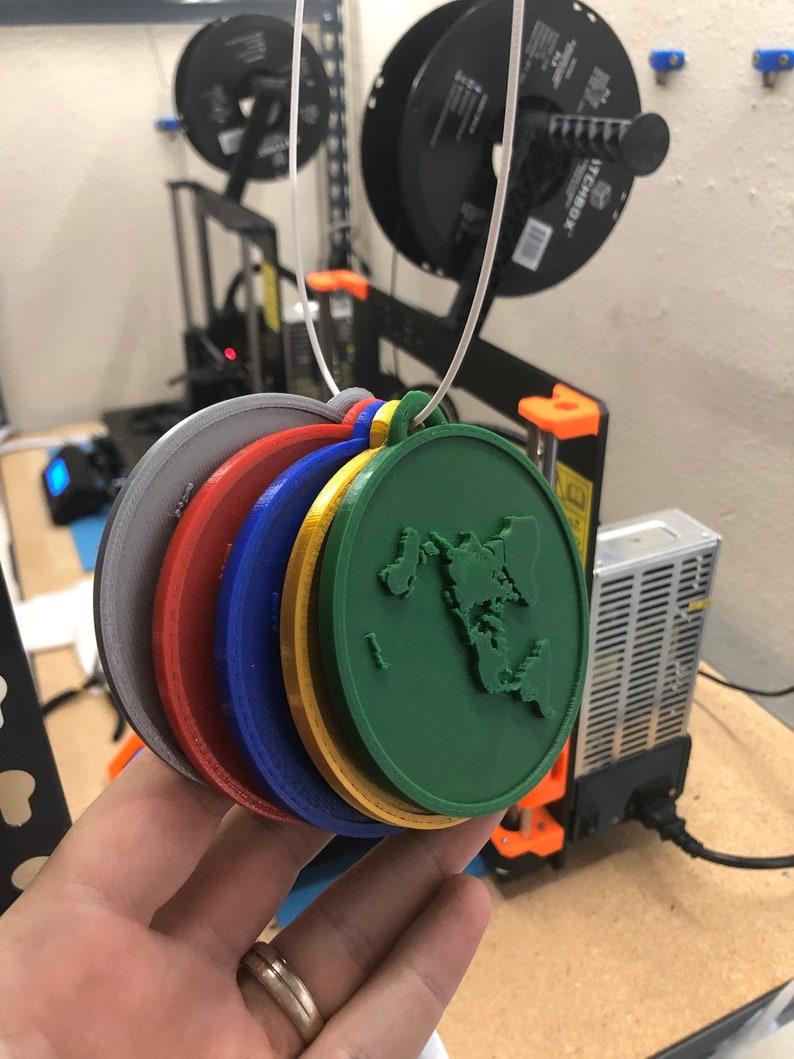 3D Printed Flat Earth Medallion image 0