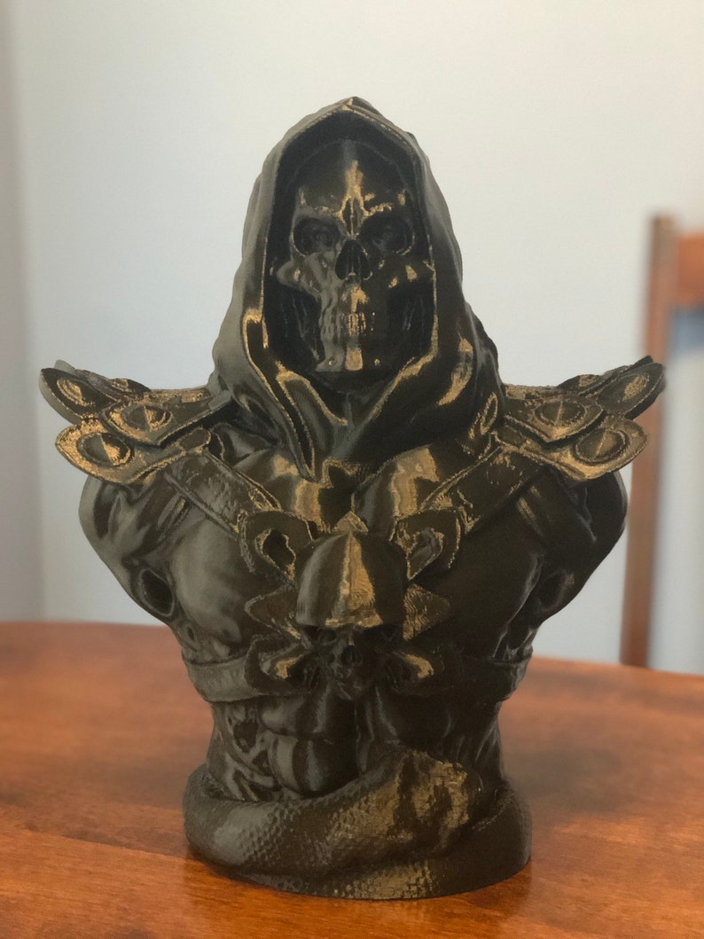 3D Printed Skeletor Bust  12 Tall  Free Shipping image 0