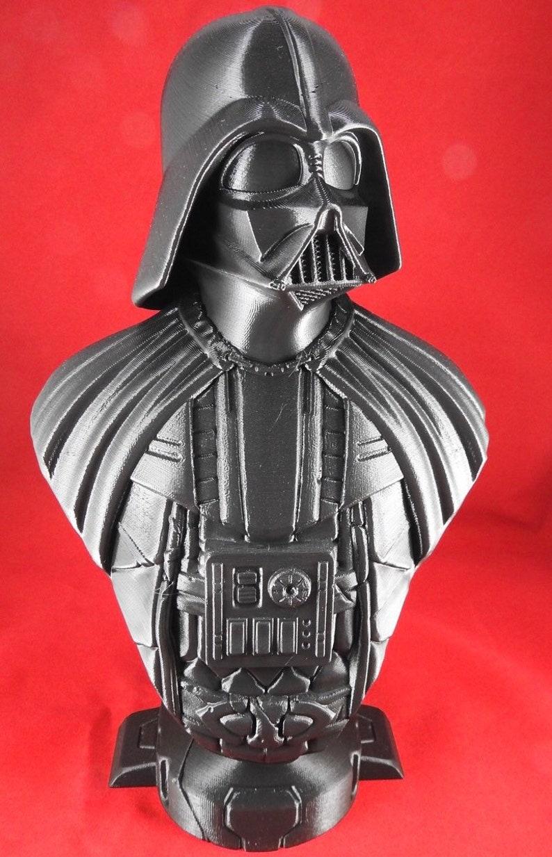 3D Printed Darth Vader Bust  10 Tall image 0